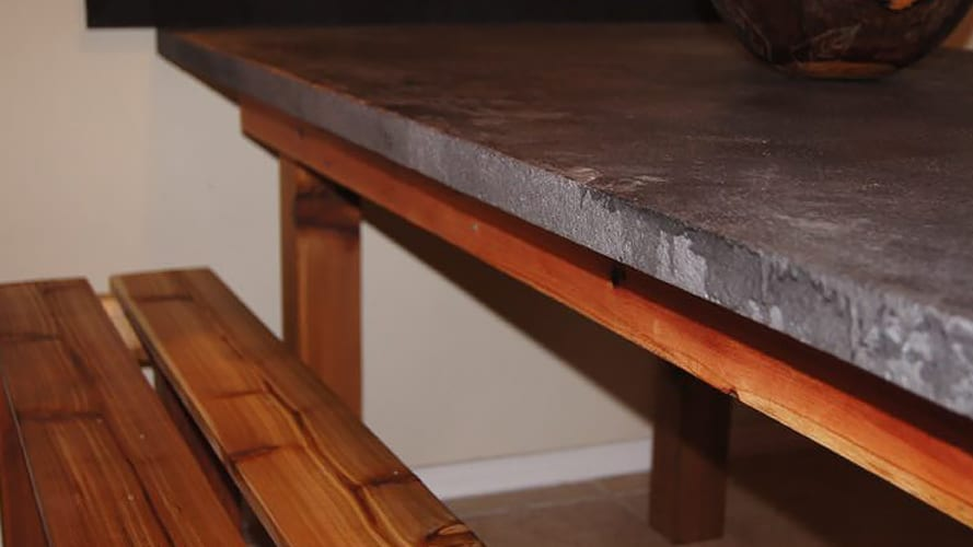 STAINED CONCRETE TABLE Colorado Concrete Repair - Stained concrete table